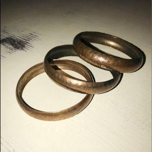 3 Gold Bracelets